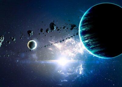 Quadro Pianeti sulla nebulose nello spazio. Elementi di questa immagine