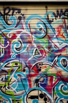 Quadro piano di arrière coloré graffiti