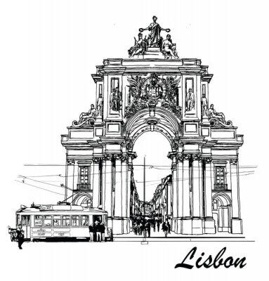 Quadro Piazza del Commercio a Lisbona