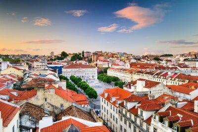 Quadro Piazza Rossio di Lisbona