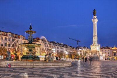 Quadro Piazza Rossio, Lisbona, Portogallo