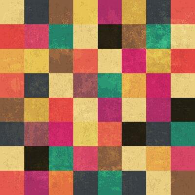 Quadro piazze di età compresa tra colorati. Seamless pattern. strati grunge può essere bis