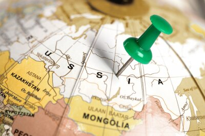 Quadro Pin verde sulla mappa.
