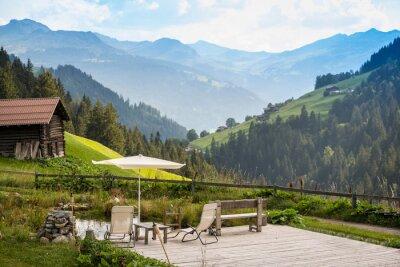 Quadro Pittoresca Point rilassante per rilassarsi nel Alpi
