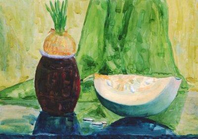 Quadro pittura ad acquerello