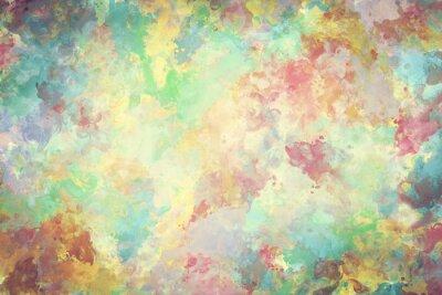 Quadro pittura ad acquerello colorato su tela. Super alta risoluzione e lo sfondo di qualità