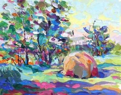 Quadro pittura ad olio illustrazione vettoriale. Io, l'Artista, possiede il copyright