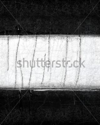 Quadro Pittura di arte astratta in bianco e nero