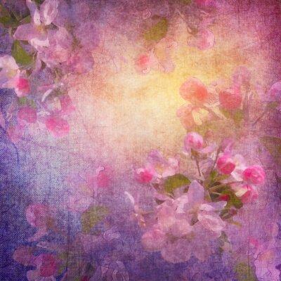 Quadro Pittura di stile floreale primavera dell'arte
