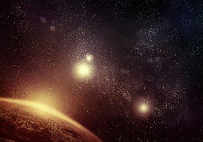Quadro Planet e starfield