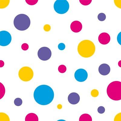 Quadro Pois Seamless sfondo colorato