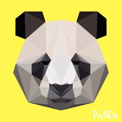 Quadro Poligonale ritratto panda geometrica