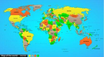 Quadro Political mappa del mondo