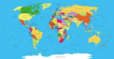 Quadro Political World Map