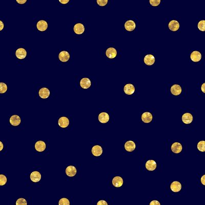 Quadro Polka dot pattern senza soluzione di continuità d'oro.