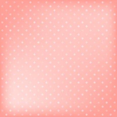 Quadro Polka dot sfondo rosa
