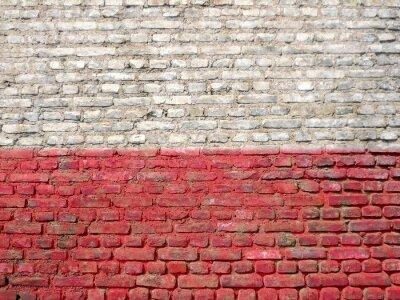 Quadro Polonia bandiera dipinta su un muro