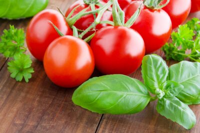 Quadro Pomodori e basilico