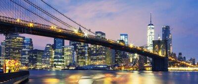 Quadro Ponte di Brooklyn al crepuscolo