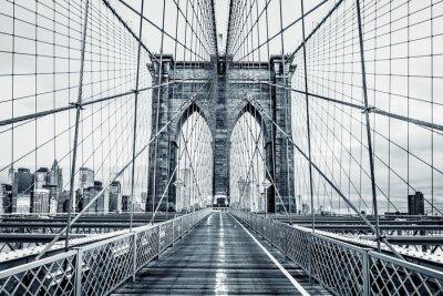 Quadro Ponte di Brooklyn in bianco e nero