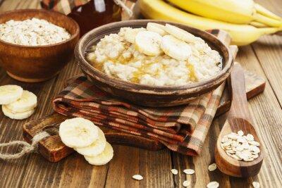 Quadro Porridge con le banane