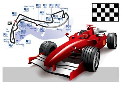 Quadro Poster di Monaco di Formula 1 Grand Prix
