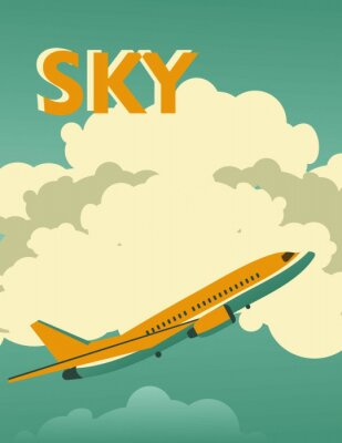 Quadro Poster di Sky vintage