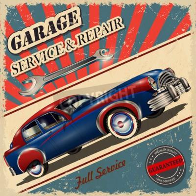 Quadro Poster retrò garage vintage