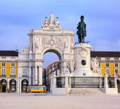 Quadro Praca do Comercio piazza, Lisbona, Portogallo