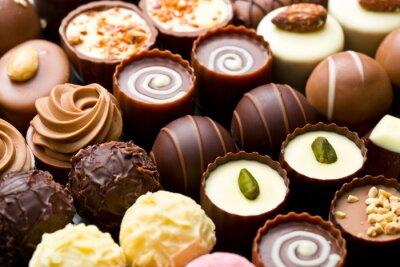 Quadro praline varietà di cioccolato