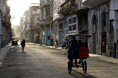 Quadro Prime ore del mattino per le strade di L'Avana Vieja