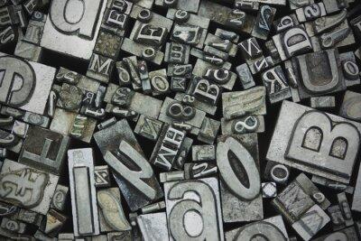 Quadro Primo piano di lettere composte