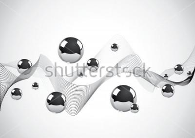 Quadro Priorità bassa astratta di un insieme delle sfere di metallo
