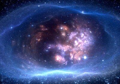 Quadro Priorità bassa dello spazio con la nebulosa e le stelle
