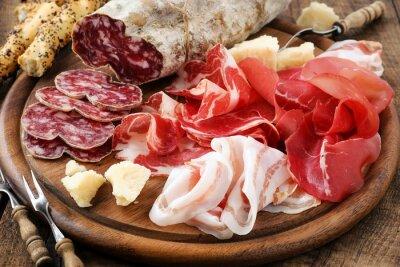Quadro Prosciutto prosciutto, bresaola, pancetta, salame e parmigiano