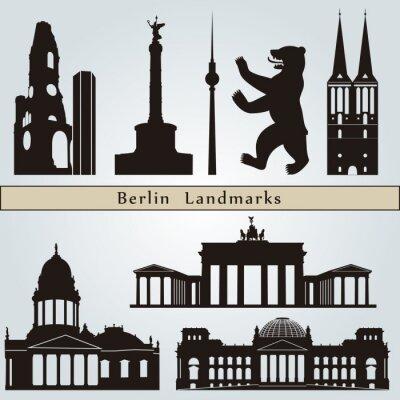 Quadro Punti di riferimento e monumenti di Berlino