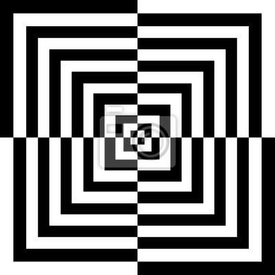 Quadrati Bianchi E Neri Dipinti Da Parete Quadri Ottico Illusione