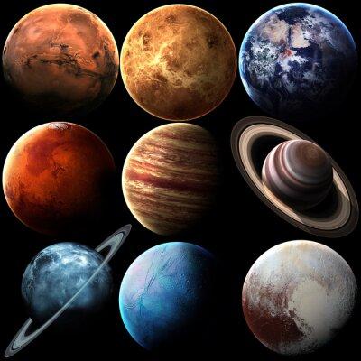 Quadro qualità Hight isolato pianeti del sistema solare. Elementi di questa immagine fornita dalla NASA