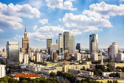 Quadro Quartiere degli affari Varsavia