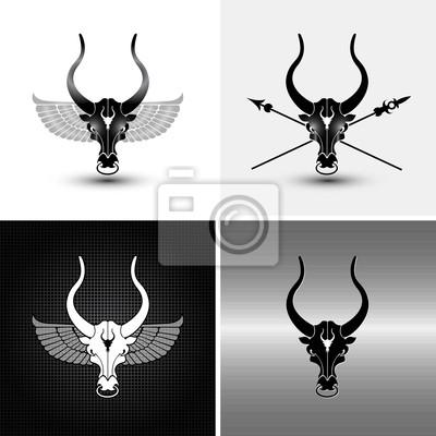 Quattro Variazioni Di Ferro Toro Icone E Sfondi Dipinti Da Parete