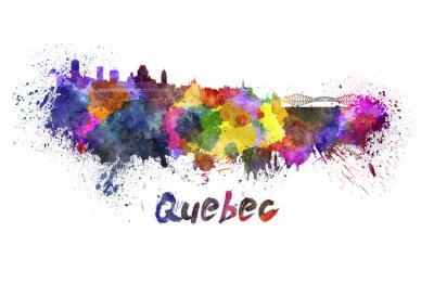 Quadro Quebec skyline in acquerello