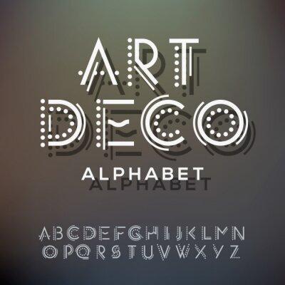 Quadro Raccolta di lettere di alfabeto, stile art deco