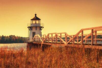 Quadro Raddoppio Point Lighthouse nel New England