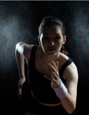 Quadro ragazza nello sport