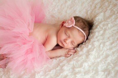 Quadro Ragazza neonato indossa un tutu rosa