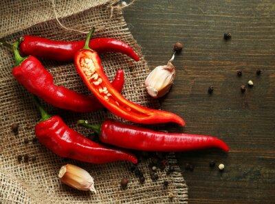 Quadro RED HOT CHILI PEPPERS e aglio,