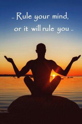 Quadro Regola la mente o che dominerà voi. La motivazione per te