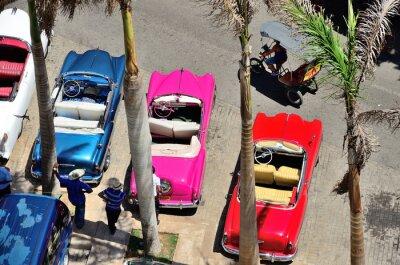 Quadro Retro automobili a L'Avana.