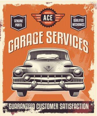 Quadro Retro segno d'epoca - Pubblicità poster - Classic car - garage