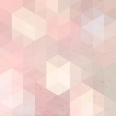 Quadro Retrò sfondo geometrico con texture grunge